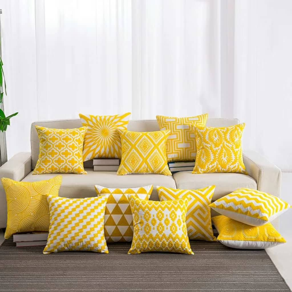 Stylish Pillow Yellow Serious