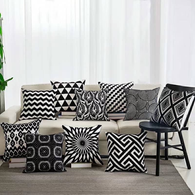 Stylish Pillow Black Serious
